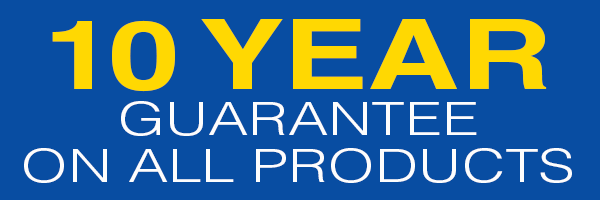 10 Year guarantee on all products