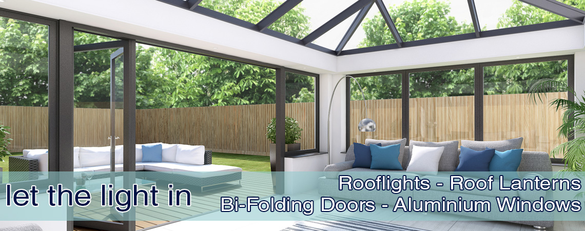 Vista Glaze Ltd suppliers of Roof lanterns Rooflights Bi-fold doors and Aliminium Windows